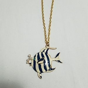 Necklace with fish pendant
